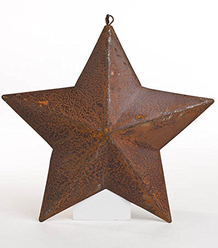 (Group of 4 Primitive Rusted Metal Barn Star Ornaments for Decorating, Embellishing and Crafting)