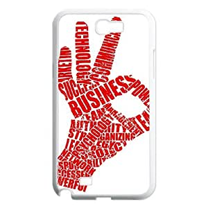 SYYCH Phone case Of Fashion Design Hand Gesture 1 Cover Case For Samsung Galaxy Note 2 N7100