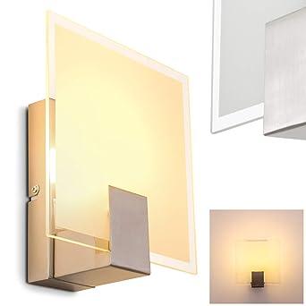 Wandleuchte mit Schalter - Wand Lampe aus Glas mit E14-Fassung ...