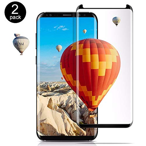 Samsung Galaxy S9 Screen Protector, 3D Curved High Transparency Tempered Glass - [Anti-Fingerprint ][9H Hardness][Anti-Scratch][Case Friendly], Easy to Installation Galaxy S9 (2-Pack) (AD32)