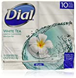Dial Skin Care Bar Soap, White Tea, 4 Ounce, 20 Bars
