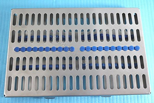 5 HEAVY DUTY GERMAN DENTAL AUTOCLAVE STERILIZATION CASSETTE RACK BOX TRAY FOR 20 INSTRUMENT BLUE ( CYNAMED ) by CYNAMED (Image #6)