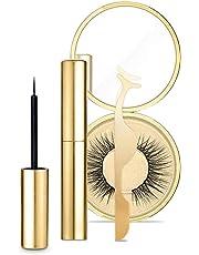 Magnetic Eyelash Set with Magnetic Eyeliner and Eyelash Tweezers Reusable 3D Fake Eyelashes Natural Soft False Lashes Eyelashes Extension Kit