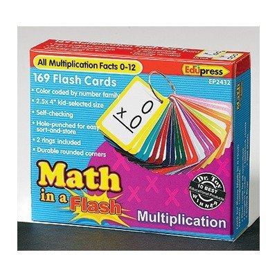 MATH IN A FLASH MULTIPLICATION FLASH CARDS by Edupress