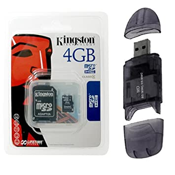 Kingston 4 GB MicroSDHC Clase 4 tarjeta de memoria microSD ...