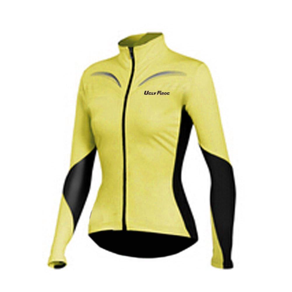 Uglyfrog Women Long Sleeve Cycling Jersey Autumn with Fleece Outdoor Sports Wear Triathlon Clothing UKHWLJW02