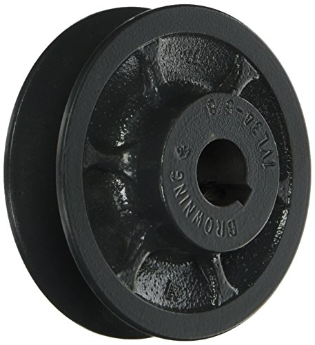 Browning 1VL34X5/8 Variable Pitch Sheave, 1 Groove, Finished Bore, Cast Iron Sheave, for 3L, 4L or A, 5L or B Section Belt -
