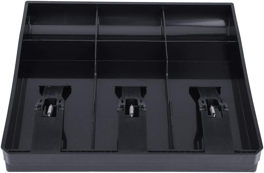 Black Cash Drawer Register Insert Tray Replacement 3 Bills 3 Coins Money Storage Box Cash Drawer Register Insert Tray