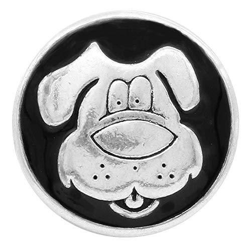 LOV*MOMENT Lovmoment 20mm Animal Dog Snap Pops Fit Ginger Snaps Interchangeable Jewelry for Women Men Gifts ()
