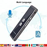 Real Time Languages Translator Stick Sensitive Vocal Recognition 0.01s Instant Translator - 33 Languages - 100+ Hours Stand By (Black)
