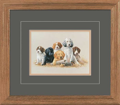 School Daze - Puppies GNA Deluxe Framed Print by Jim Killen