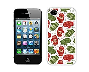 Personalization Gloves Christmas Pattern White iPhone 4 4S Case 1
