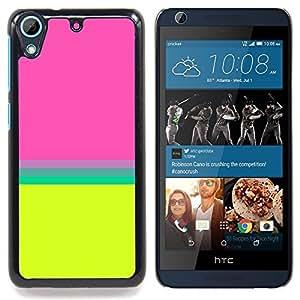 Teal riga gialla astratta Pulito Brillante - Metal de aluminio y de plástico duro Caja del teléfono - Negro - HTC Desire 626 626w 626d 626g 626G dual sim