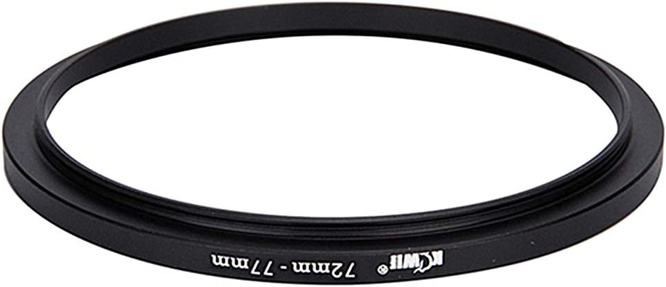 Anodized Aluminum Filter Thread Step Up Converter Kiwifotos 72-77mm Step-Up Filter Adapter Ring for Camera 72mm Lens to 77mm UV CPL Circular Polarizer ND Neutral Density Filter