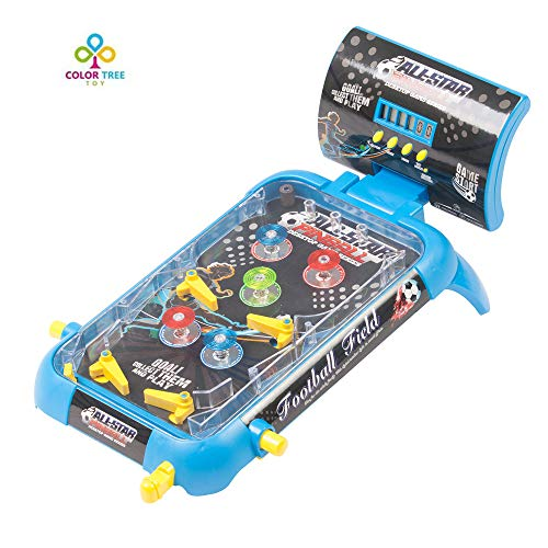 COLOR TREE Pinball Arcades Soccer Game - Kids Pinball Style Table Board Game