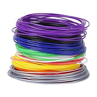 Recambios de filamento, 10 colores de 1,75 mm PCL Filamento ...