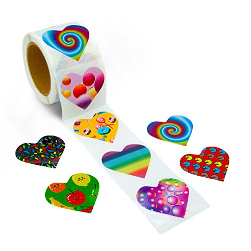 ceiba tree 200 Pcs Heart Stickers Perforation Line Design 8 Different Designs in One Roll
