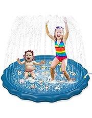 "Jasonwell Sprinkler for Kids Toddlers Splash Pad Play Mat 60"" Inflatable Baby Wading Pool Fun Summer Outdoor Water Toys for Children Boys Girls Sprinkler Pool for Alphabet Learning Age 1 2 3 4 5 6 7 8"