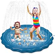 """Jasonwell Sprinkler for Kids Toddlers Splash Pad Play Mat 60"""" Inflatable Baby Wading Pool Fun Summer Outd"""