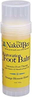 product image for The Naked Bee Restoration Foot Balm, 2 Ounce, Orange Blossom Honey