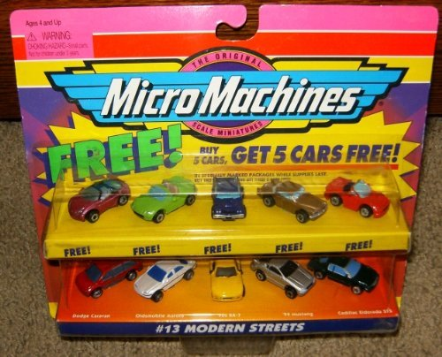 Mazda Rx 7 Coupe (Micro Machines Modern Streets #13 plus 5 Bonus Cars Collection)