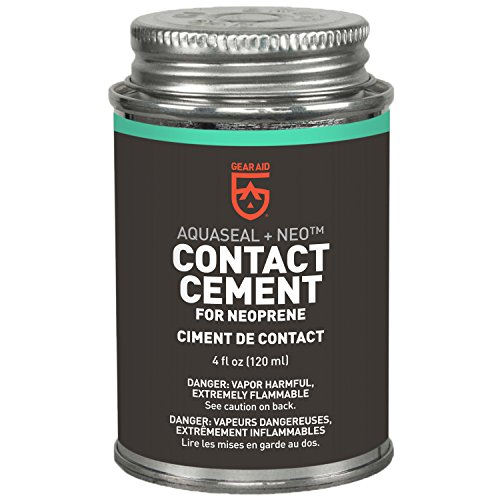 - Gear Aid Aquaseal NEO Contact Cement for Neoprene and Wetsuit Repair, 4 fl oz (Packaging color may vary)