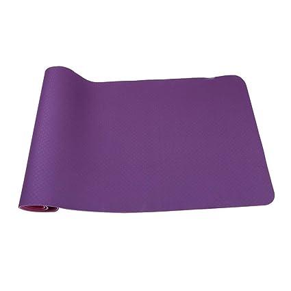 Amazon.com : Jzmai Yoga mat Yoga Mat Two-Color TPE Yoga Mat ...