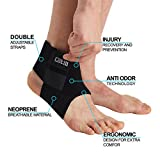 Cotill Ankle Support for Men and Women - Neoprene Breathable Adjustable Ankle Brace Sprain for Running, Basketball by (One Size)