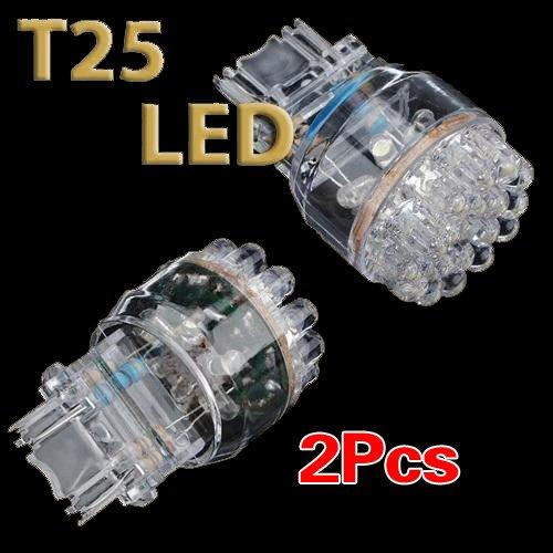 3 opinioni per SODIAL (R) 2x T25 3157 3057 W21 / 5W bianco LED 24 SMD luce auto di coda di stop