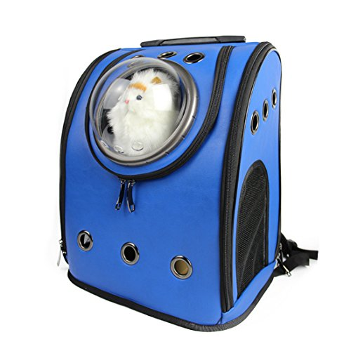 Amazon.com : Petforu Pet Carrier Backpack, Space Capsule Dog Cat Small Animals Travel Bag - Blue : Pet Supplies