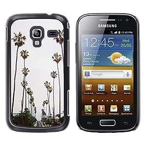 LECELL--Funda protectora / Cubierta / Piel For Samsung Galaxy Ace 2 I8160 Ace II X S7560M -- Trees Road Beach Miami --