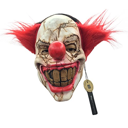 Scary Clown Mask Creepy Face Clowns Evil Halloween Killer Clown Mask Made of Natural Latex by Magical Imaginary