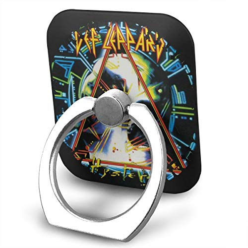 EdithL Def Leppard Hysteria Cellstand Cell Phone Finger Ring Stand, Car Mount 360 Degree Rotation Universal Phone Ring Holder Kickstand for iPhone/iPad/Samsung