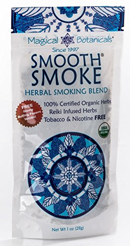 (Smooth Smoke Herbal Smoking Blend Certified Organic Tobacco-Free Nicotine-Free 1 Ounce Includes Hemp Rolling Papers 1 oz)