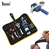 BABAN 17pcs Professional Watch Repair Tool Kit Set Case Opener Wrench Band Pin Hand Remover Hammer