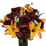 Burgundy-Rose-and-Stargazer-Mix-Artificial-Bouquet-featuring-the-Stay-In-The-Vase-Designc-Flower-Holder-MD1284