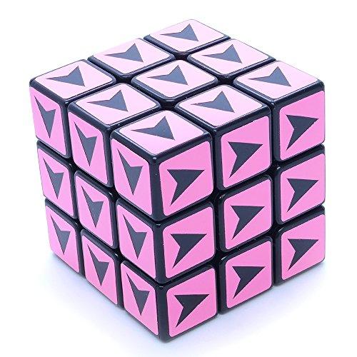 3x3x3 Black Supercube Arrow Shepherd 1 Color Sticker Mod Puzzle Toy