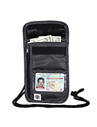 Banuce Rfid Neck Stash Travel Passport Holder Wallet