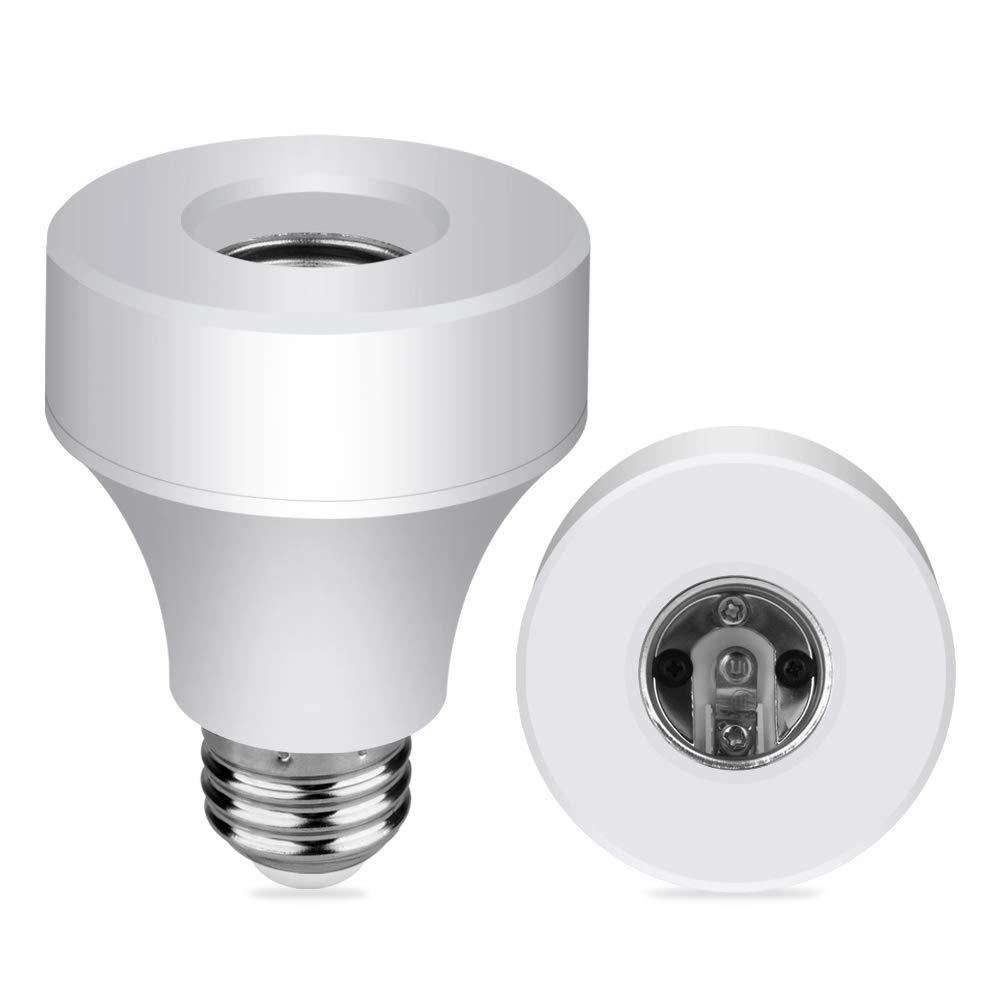 Aigital Smart Wifi Bulb Socket E26/E27 Bulb,Wi-Fi Led Light Bulbs Adapter Base Converter Timer Holder Wireless Lamp Adapter Compatible with Alexa, Google Assistant and IFTTT