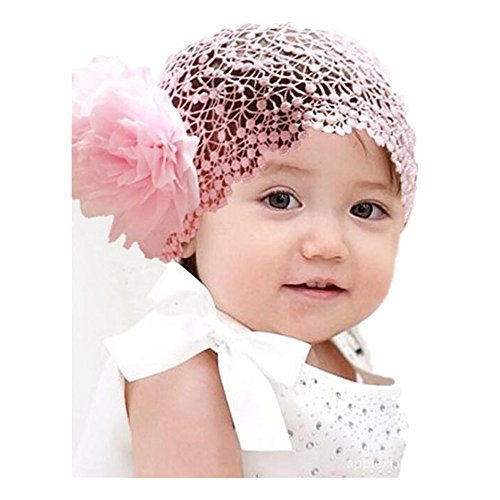 Headband Pink Crochet Baby - Lurryly Hair Accessories Baby Girl's Gift Chiffon Lace Bow Flower Headband Crochet