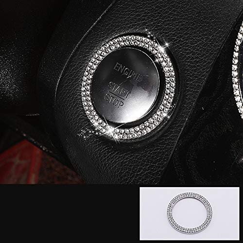 Crystal Rhinestones Apparel - TopDall Bling Crystal Shiny Auto Start Engine Ignition Button Knob Interior Accessory for Mercedes-Benz