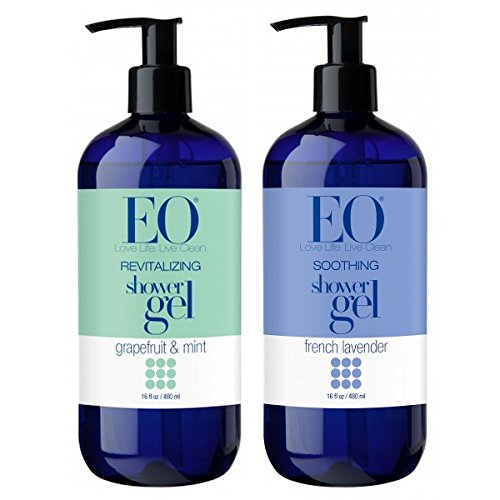 - EO Botanical French Lavender Shower Gel and EO Botanical Grapefruit and Mint Shower Gel Bundle With Lavender and Lavendin Essential Oils, Grapefruit, Orange and Peppermint Essential Oils, 16 oz each