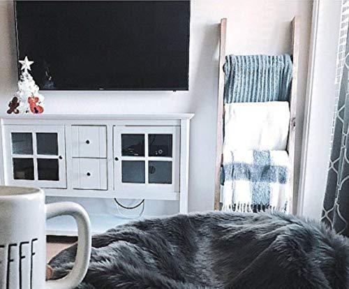 (6 ft Blanket Ladder, Decorative Wooden Ladder, Quilt Ladder, Joanna Chip Gaines HGTV Style Decor, Rustic Pine Wood Blanket Ladder, 72 x 20 Solid Wood Blanket Ladder, Rustic Warm Home Decor)