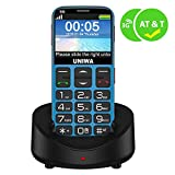 "UNIWA Unlocked Senior Phone - WCDMA GSM 3G Unlocked Cell Phone for Seniors Kids 2.31"" Arc Screen Embossed Keyboard Big Button Big..."
