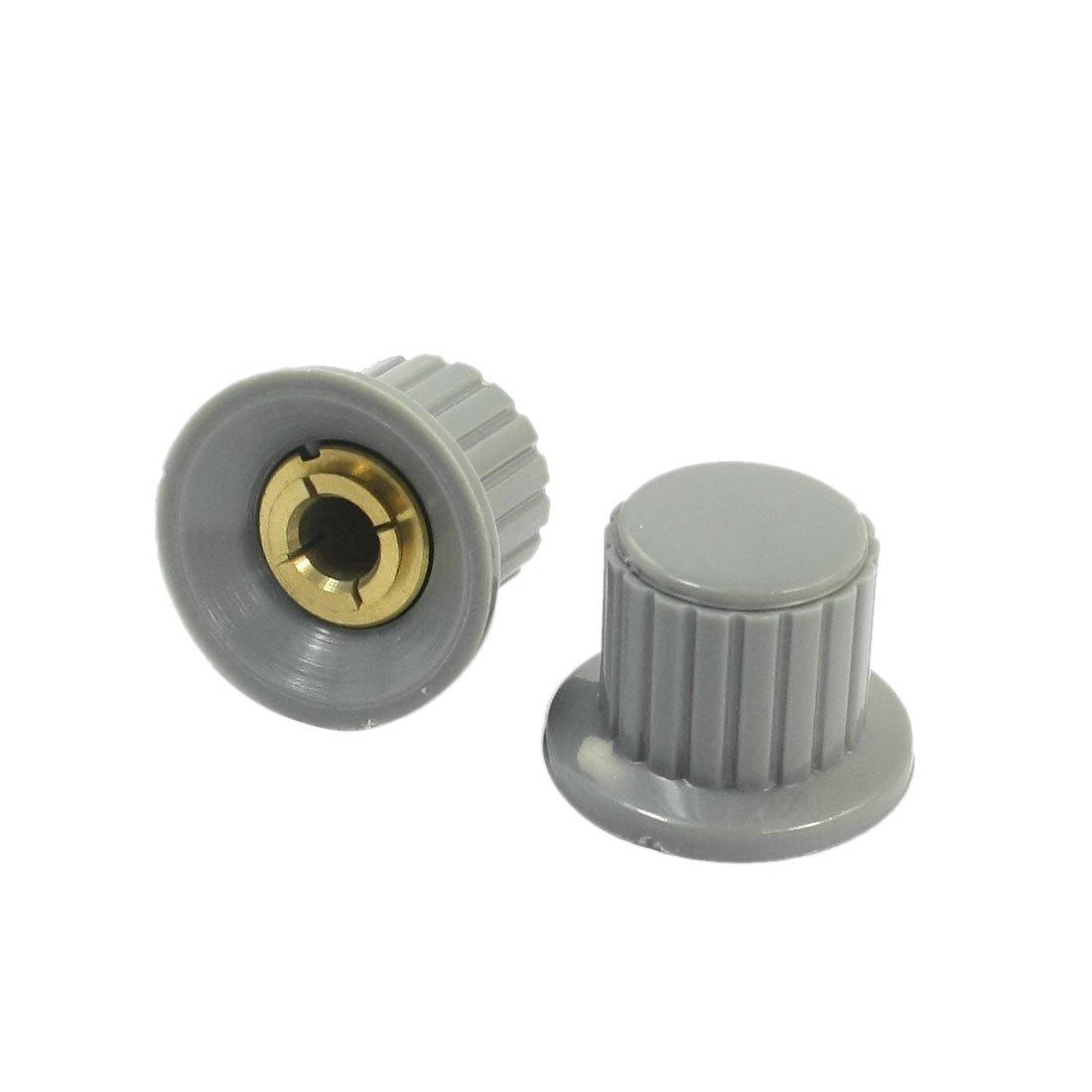 10Stk Potentiometer knob Grau-Weiß Für 6mm Shaft Pots Welle Töpfe