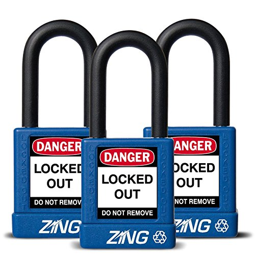 ZING 7064 RecycLock Safety Padlock, Keyed Alike,1-1/2