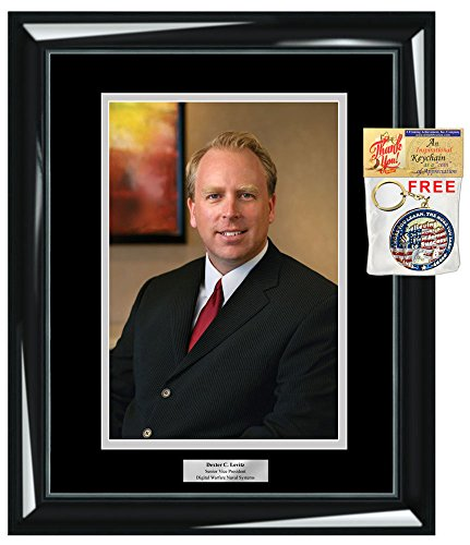 Personalized Photo Frame Wall Glossy Black Wood 8x10 Plaque Wall Matted Black with Inner Silver Employee Month Executive Graduate 8 x 10 Portrait Recognition Retirement