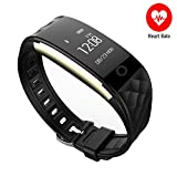 Fuster Fitness Activity Tracker, F2-Heart Rate Wristband,First Bicycle-riding Mode Sports Smart Band Waterproof, OLED Wireless Smart Bracelet with Health Sleeping Monitor for IOS&Android Black