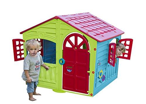 Palplay Colorful Fun House, Medium, Green/Red/Blue by Pal Play