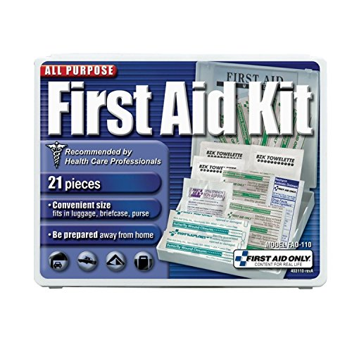All Purpose First Aid Kit, 21 pieces